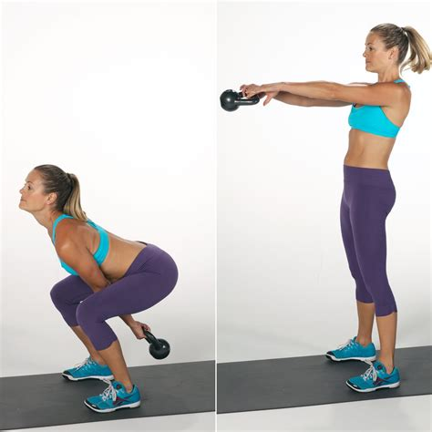 kettlebell swing popsugar workout booty fitness quick