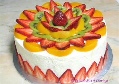 cakes decorated with fruit how s baking vanilla chiffon with fresh fruits topping