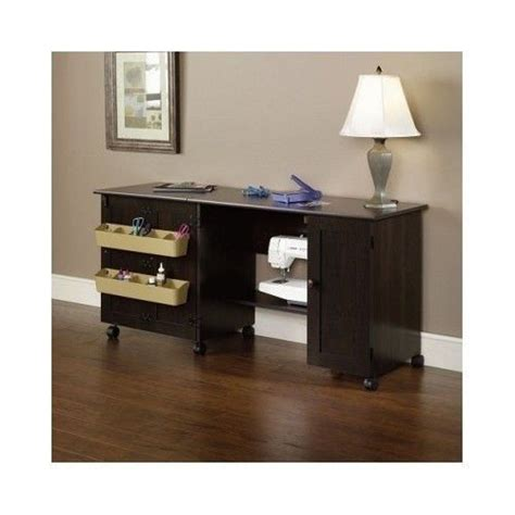 rolling craft table with storage rolling wood crafts sewing table cart desk cabinet storage