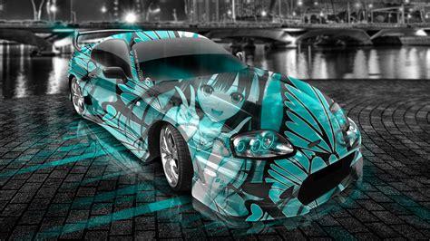 toyota supra jdm anime aerography city car  art azure colors hd wallpapers design  tony
