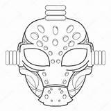 Mask Goalie Drawing Hockey Goalkeeper Getdrawings sketch template