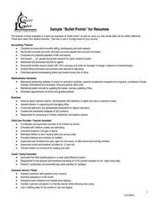 resume bullet points period bullet point resume exles resume format 2017