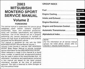 2003 Mitsubishi Montero Sport Repair Shop Manual Set Original