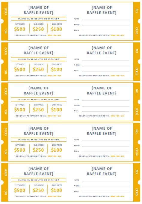 raffle template 45 raffle ticket templates make your own raffle tickets
