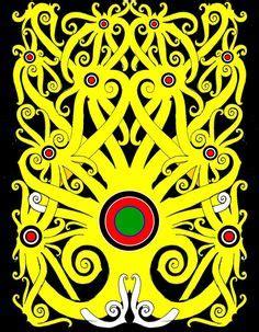 pin  suri kempe  tatts   batik art borneo