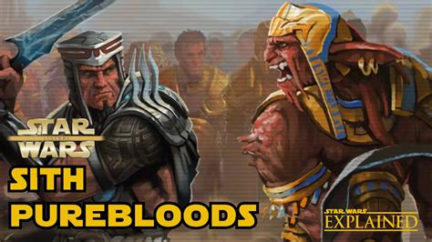 sith purebloods explained legends star wars explained