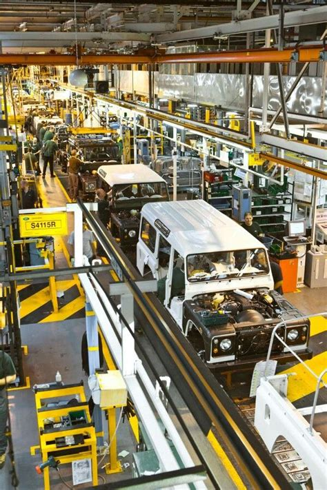 Land Rover Jaguar Line by Defender Production Line Solihull Land Rovers Jeeps
