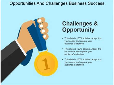 opportunities  challenges business success powerpoint