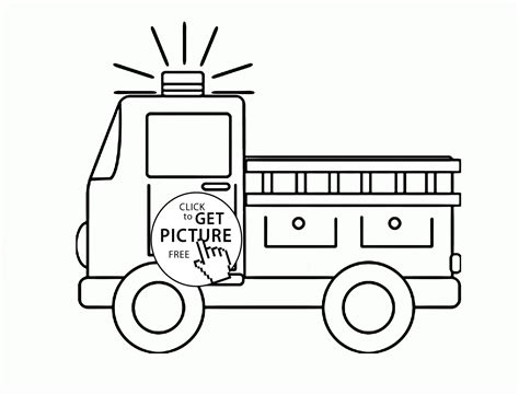 truck pages  preschool coloring pages