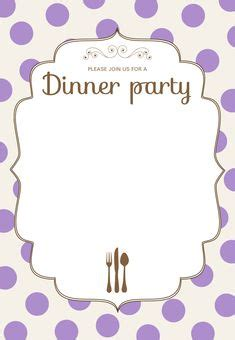 printable dinner party invitations template