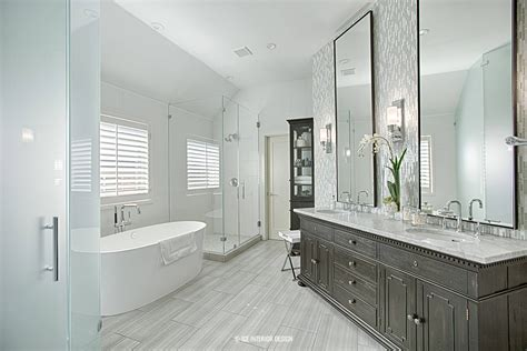 contemporary master bath remodel  interior design pre