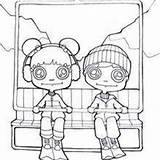 Coloring Ski Pages Skiing Winter Chairlift Sport Acrobat Ana Hellokids Boy sketch template