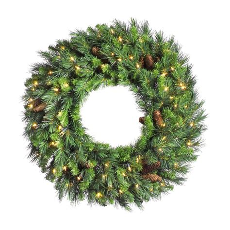 shop vickerman 48 in pre lit green pine artificial
