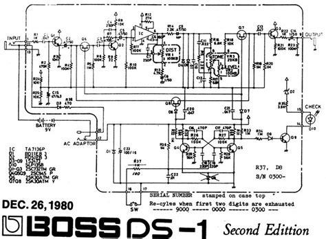 ds 1 pedal schematic pedal tech