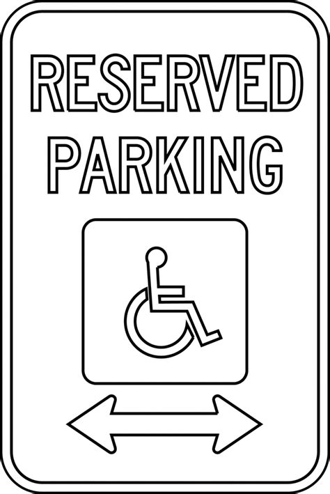 reserved parking outline clipart