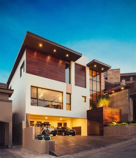 Moderne Häuser Innenausstattung by Einfamilienhaus Pultdach Beleuchtung Eingebaut Garage
