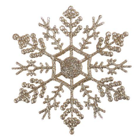 pcs bulk glitter snowflake christmas ornaments xmas tree