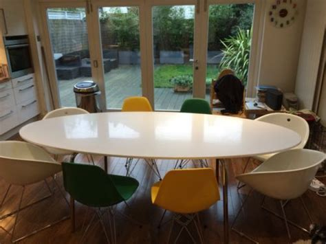 Ikea Tisch Oval by Dining Table Oval Ikea Gloss White Green Tisch