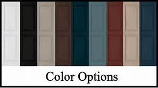 Exterior Window Color Schemes by Decorative Exterior Vinyl Shutters Color Choices Hooks And Lattice