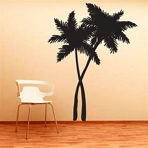swaying palm trees vinyl decal wall sticker tropical wall With beautiful palm tree decal for wall