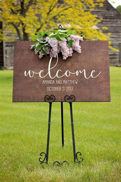 personalized wood wedding signs wedding  sign