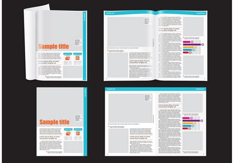 Magazine Format Template by Financial Magazine Layout Template Free Vectors