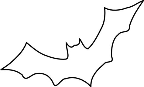 bat clipart black and white outline bat clip at clker vector clip