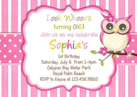 owl birthday party invitations bagvania  printable