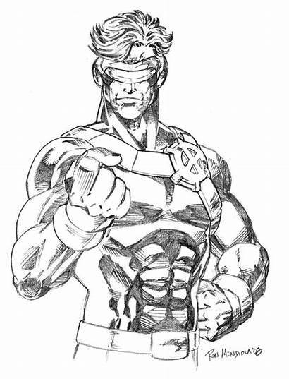 Cyclops Deviantart Pencils Tronar Drawing Sketches Comic