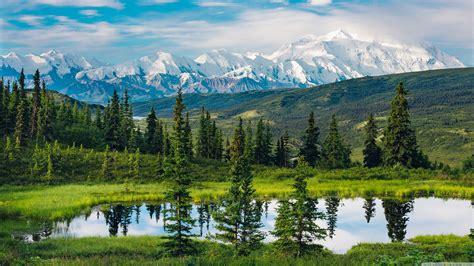 alaska range beautiful mountain landscape ultra hd