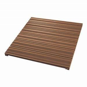 Dalle De Terrasse Composite : dalle de terrasse en composite marron 90 x 90cm castorama ~ Melissatoandfro.com Idées de Décoration