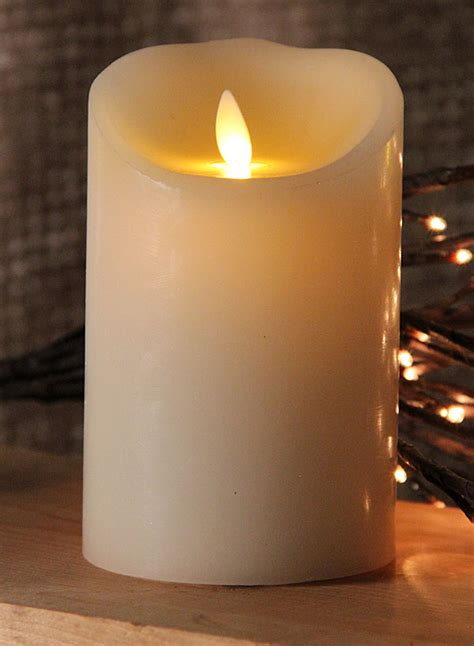 Halloween Taper Candles by Moving Flame Ivory Candle Battery Operated 3 5 X 5 Timer