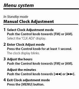 How Do I Set The Clock On A Kdc