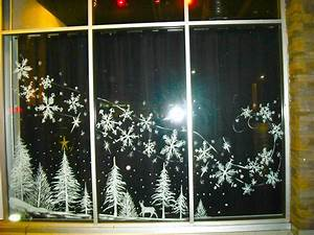 Christmas, Window, Paintings