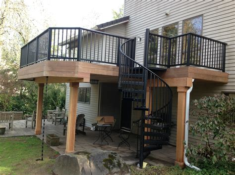 harmonious second floor deck ipe deck project in lake oswego oregon portland deck