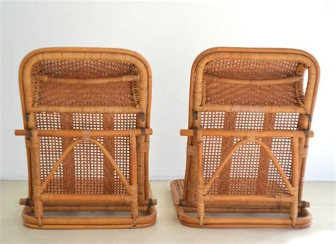 About iconic emmanuelle chair midcentury, rattan peacock chair with seating cushion included. Mid Century Rattan and Bamboo Beach Chairs at 1stdibs