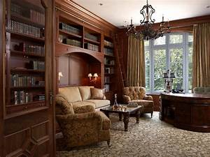 Study Room Traditional Style Home Decorating Ideas