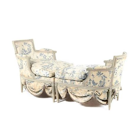 chaise longue from circa 1800 fabric by madeleine castaing for sale at 1stdibs