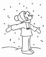 Coloring Snow Winter Funny Kid Pages Season Weather Tasting Hilarious Snowy Template Beach Colornimbus sketch template