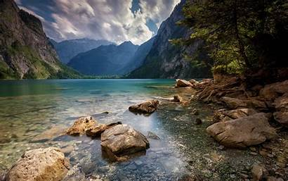 Lake Mountain Water Nature Landscape Trees Alps