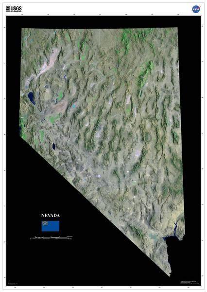 nevada satellite poster map aerial views  space