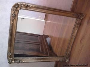 Miroir Doré Ancien : miroir ancien dor la feuille artisans du patrimoine ~ Teatrodelosmanantiales.com Idées de Décoration