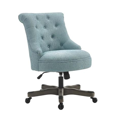 linon sinclair swivel fabric upholstered office chair in