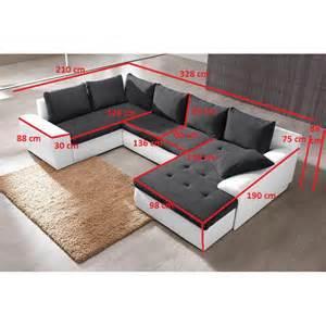 Dimension Canapé Angle 5 Places by Canap 233 D Angle Convertible En U 7 Places Joyu Tissu Et Ska 239