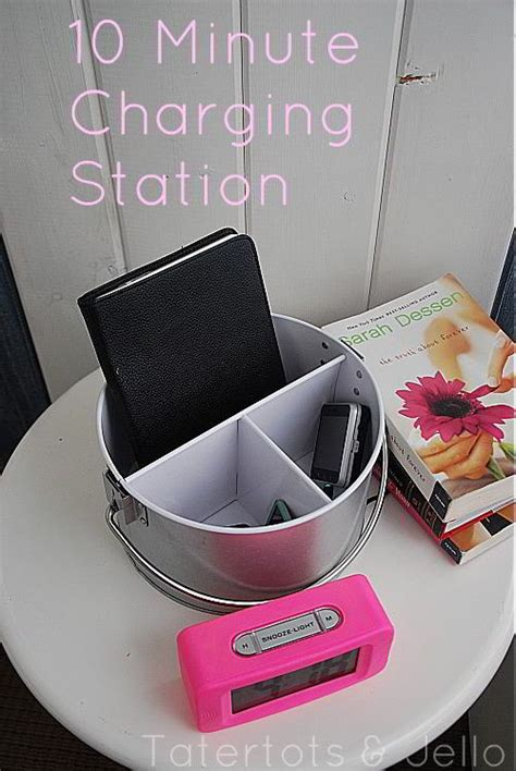 electronic charging station make a electronic charging station from a silverware caddy