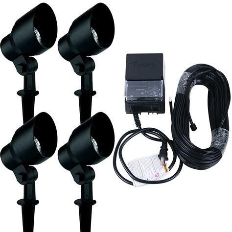 landscape lighting kits amazon landscape lighting kit malibu 4 pack 20 watt floodlight