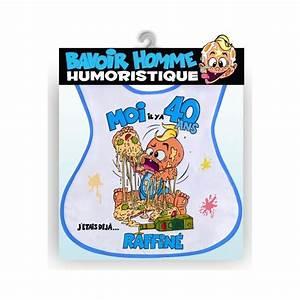 Cadeau Homme 40 Ans : bavoir humoristique 40 ans homme ~ Teatrodelosmanantiales.com Idées de Décoration