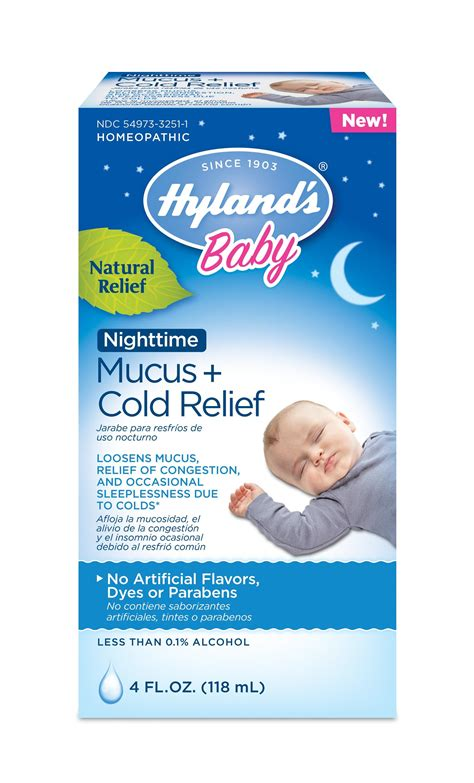 Hylands Baby Nighttime Mucus Cold Relief Natural