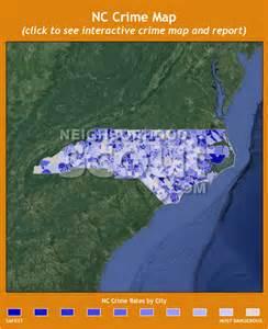 North Carolina Crime Rate Map