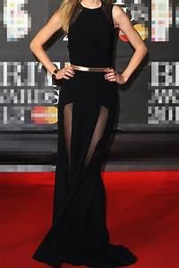 elegante robe de celebrite longue noire avec une fine With robe noire élégante